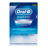 14 Tiras Blanqueadoras Con Gel Oral-b 3d White Whitestrips