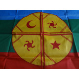 Bandera Mapuche 60 X 100 Cm Oferta  / Barbazar Spa
