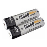 2 Pilas Bateria Recargable 18650 De 4800 Mah Ion Litio