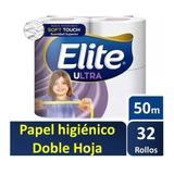 Papel Higiénico Elite 50 Mts Doble Hoja X 32 Rollos Ultra