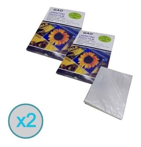 200 Micas Laminas Termolaminadora Plastificadora Carta A4
