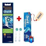 2 Repuestos De Cepillo Electrico Dientes Oral-b Cross Action