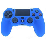 Funda Protector Silicona Control Ps4 Color Azul - Revogames
