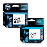 Pack Cartucho Hp 662 Negro + Hp 662 Color Combo