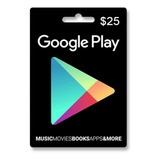 Tarjeta Google Play U$25 Usa | Entrega Inmediata - Gamer24hs