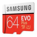 Tarjeta Memoria Micro Sd Samsung Evo Plus 64gb 100m/s U3 4k