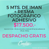 5 Mts Iman + Papel Fotográfico Adhesivo Glossy