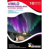 Vinilo Adhesivo Imprimible Tornasol Mixto A4/10hojas