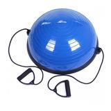 Balon Bosu Azul Con Manillas E Inflador Nuevo