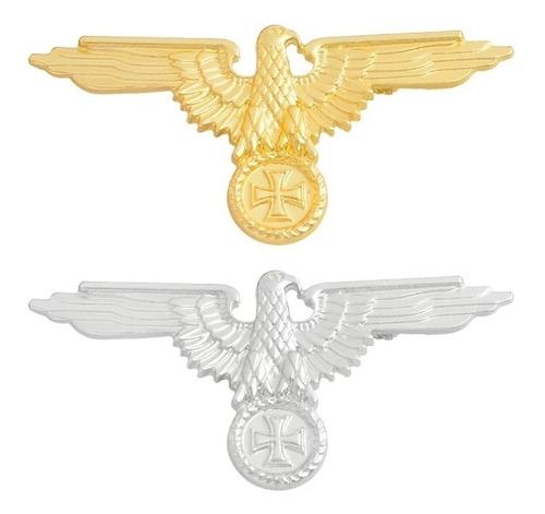 Pin Militar, Set Aguila Alemana Plateada Y Dorada