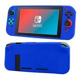 Carcasa Protectora Silicona Nintendo Switch Azul - Prophone