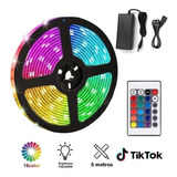 Pack Tiktok: Cinta Luces Led Colores + Control + Adaptador
