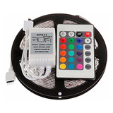 Pack X2 Tira Cinta 300 Led 5mt Rgb 5050