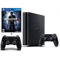 Consola Ps4 Slim + Uncharted 4 + 2 Controles - Sniper Game