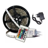 Cinta Luces Tira 300 Led 5 Metros Rgb Multicolor + Control