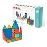 Juguete Magnético Magneti Blocks 60 Piezas