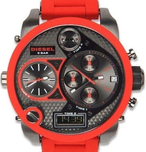 54b65daf84dc Reloj Diesel Dz-7279 Rojo Mr. Daddy 4 Horarios El Original