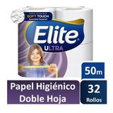 Papel Higiénico Elite 50 Mts Doble Hoja 32 Rollos