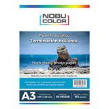 Papel Foto Glossy Brillante Nobucolor A3 135 Gr. 50 Hojas