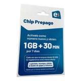 Chip Prepago Entel  1gb + 30 Minutos Por 2 Meses