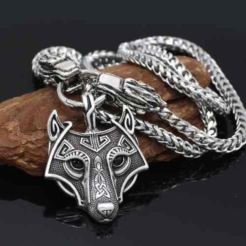 110264ac9fdc Collar Nordico Vikingo Lobo Para Hombre
