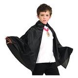 Capa Negra Niño Halloween Cotillón Activarte