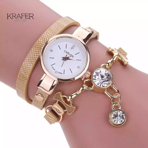 Reloj Mujer Economico Tipo Pulsera Varios Colores (krafer)