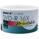 Dvd-r 16x 4.7gb Imprimible 50 Unidades Master-g