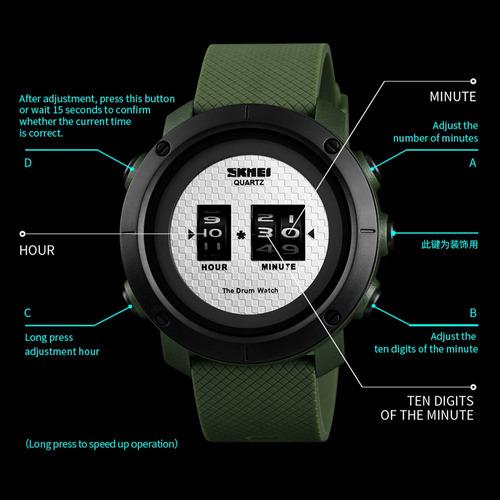 710883d622e6 Skmei 1.486 Hombres Analógico Digital Electrónica Reloj Moda