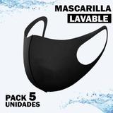 Mascarilla Pack 5 Unidades Reutilizable, Lavable.