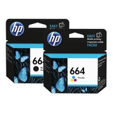 Pack Hp 664 Negro Y Color Originales 1115-2135-3635-3835