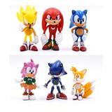 6 Figuritas Sonic, (pack Sin Caja)