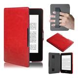 Funda De Piel Ultrafina Para Kindle Paperwhite 5, Color Rojo