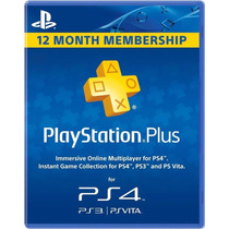 Playstation Plus 1 Año Psn Ps4