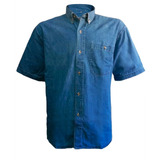 Camisa Jeans 100% Algodón Prelavado Denim Manga Corta