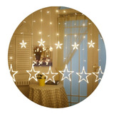 Luces Navidad Guirnalda Cascada Estrella Luz 138 Led 2.5mts