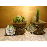 Recuerdos Regalos Baby Shower Cactus Suculentas Y Ecografía