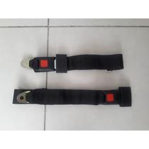 Par De Cinturones De Seguridad 2 Puntos Color Negro