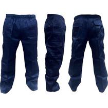 Pantalon Gabardina Cargo Azul Marino.