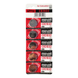 Bateria Litio Pila Cr2032 Maxell 3v Tira 5 Pilas Boton Reloj