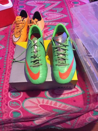 be4d2745 Lote 2 Pares De Zapatos De Futbol Nike 38