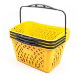 Canasto Plastico Para Ropa Sucia O Compras Apilable Amarillo