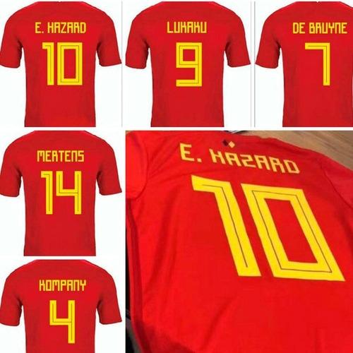 Camiseta Belgica Rusia 2018 Hazard Lukaku 49c1c8e651306