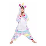 Pijama Kigurumi Unicornio Con Estrellitas Para Niños Y Niñas
