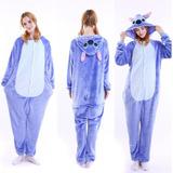 Kigurumi Stitch Pijama Enterito Adulto Invierno Envío Gratis