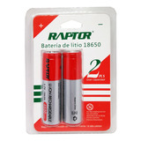 Pack 2 Pilas 18650 4800mah 3.7v Raptor