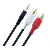 Cable Rca 2x1 Plug Stereo 1,5 Mts