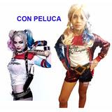 Disfraz Harley Quinn Con Peluca Completísimo Envio Gratis