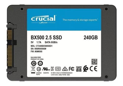 Disco Ssd 240gb Crucial Bx500 3d Sata 6.0gb/s 2.5 Original