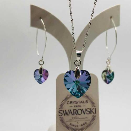 010f33a83333 Joyas Swarovski Corazón Cristal Y Plata Vitrail Light